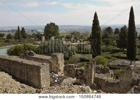 Ruins of the palace-city of Medina al-Zahra near Cordoba
