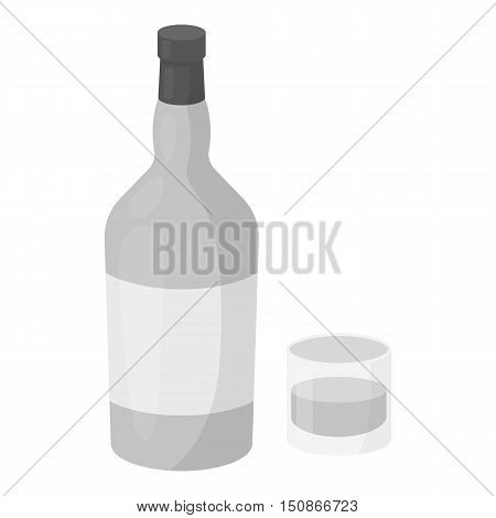 Rum icon in monochrome style isolated on white background. Alcohol symbol vector illustration.