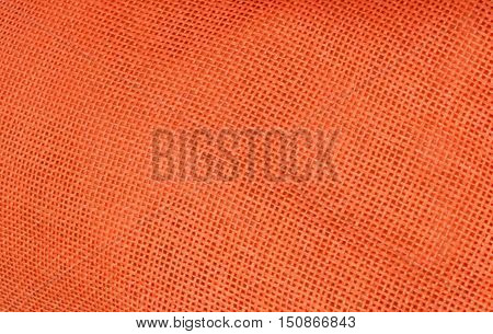 Fabric Texture Close Up of Orange Fabric Texture Pattern Background.