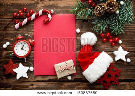 Christmas decoration and letter to Santa Claus