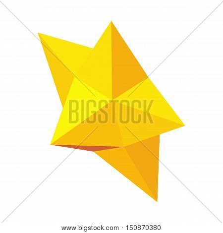 Christmas star icon in isometric 3d style isolated on white background vector illustration