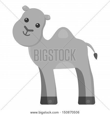 Camel monochrome icon. Illustration for web and mobile.