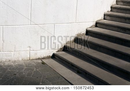 Old Stairway.