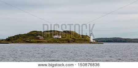 Lighthouse on Island Near Halifax Nova Scotia