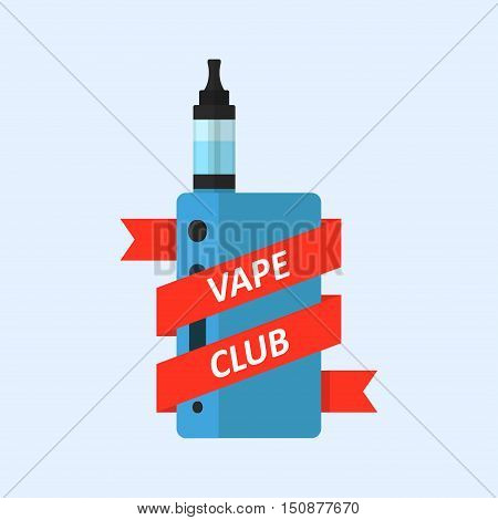 Vape device vector icon isolated from the background. Electronic cigarette with e-liquid in a flat style. Vaping symbol.