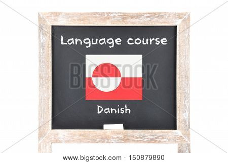 Language Course With Flag On Board