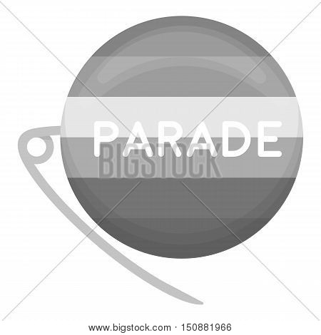 Gay parade icon monochrome. Single gay icon from the big minority, homosexual monochrome.