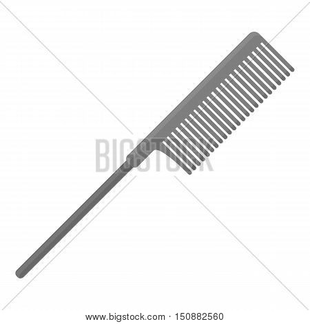 Hair comb icon in monochrome style isolated on white background. Hairdressery symbol vector illustration.