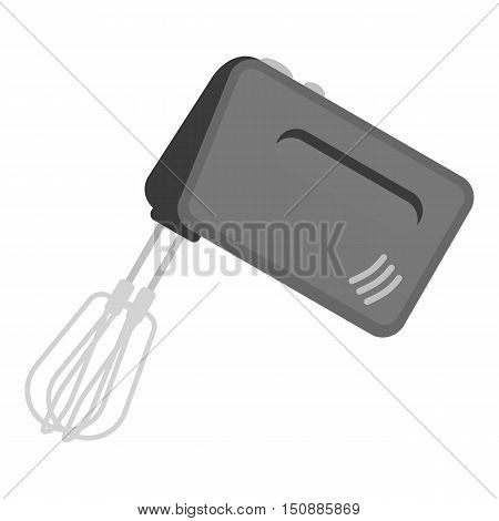 Mixer icon in monochrome style isolated on white background. Kitchen symbol vector illustration.