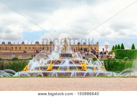 Latona Fountain Pool, Opposite The Main Building Of The Palace Of Versailles, Created  By Sun-king L