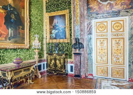 Versailles, France - July 02, 2016 :salon Of  Abundance Is On The First Floor Of The Chateau De Vers