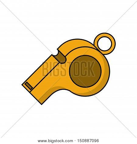 Whistle icon. Soccer sport hobby competition and game theme. Isolated design. Vector illustration