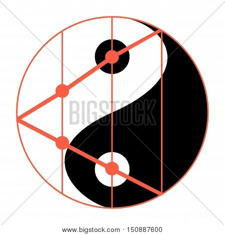 Statistics balance of yin yang. Statistics icon analytics and static statistics concept. Vector illustration