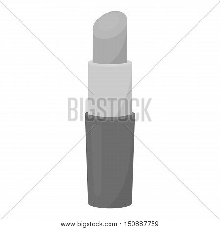 Lipstick icon in monochrome style isolated on white background. Make up symbol vector illustration.