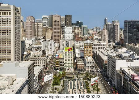 City View Of San Francisco At Midday From Observation Platform