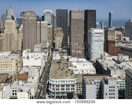 View From The Rooftop To The City Of San Francisco