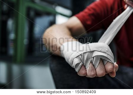 Boxer Hand Wraps Protection Knuckle Concept