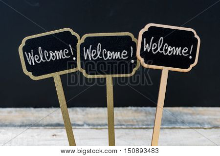 Business Message Welcome, Welcome, Welcome