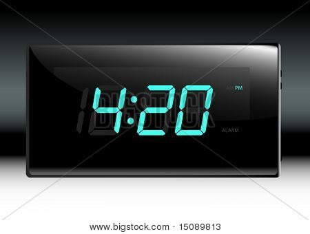 Stylish Digital Clock Vector