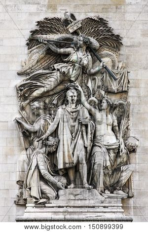 Le Triomphe de 1810, Napoleon's Triumph, image on Arc de Triomphe