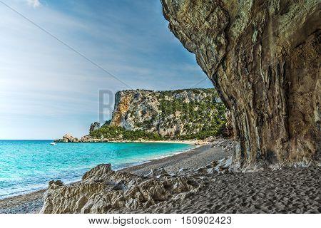 Cala Luna on a clear day Sardinia