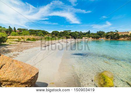 a small cove in Costa Smeralda Sardinia