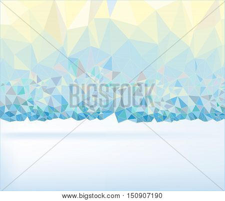 Abstract polygonal perl colour background. Geometric backdrop in Origami style. Beautiful vector illustration made from triangular shapes.