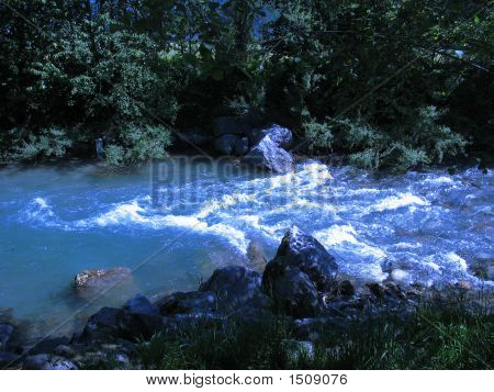 River With Blue Filter