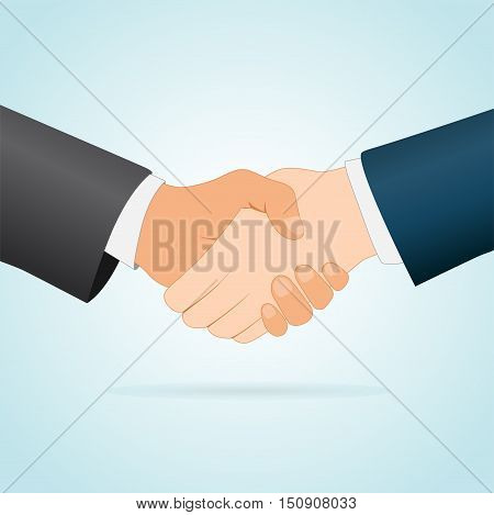 Illustration of handshake concept between two businessmen