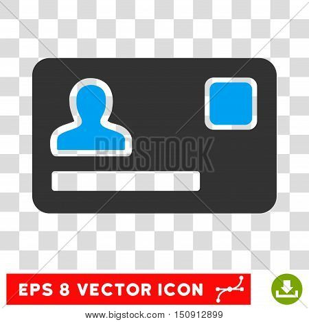 Vector Banking Card EPS vector icon. Illustration style is flat iconic bicolor blue and gray symbol on a transparent background.