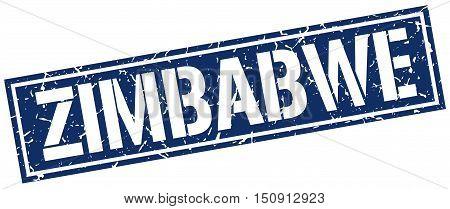 Zimbabwe. stamp. square grunge vintage isolated sign