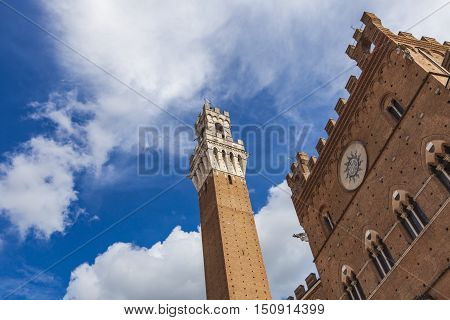 Palazzo Publico And Torre Del Mangia In Siena