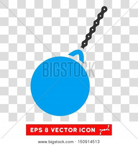 Vector Destruction Hammer EPS vector pictograph. Illustration style is flat iconic bicolor blue and gray symbol on a transparent background.