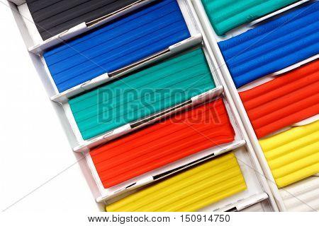 Colorful plasticine