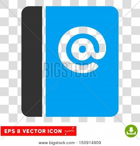Vector Emails EPS vector icon. Illustration style is flat iconic bicolor blue and gray symbol on a transparent background.