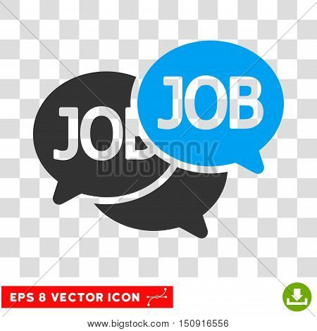Vector Labor Market EPS vector pictogram. Illustration style is flat iconic bicolor blue and gray symbol on a transparent background.