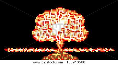ATOMIC MUSHROOM IN STYLE PIXEL for web
