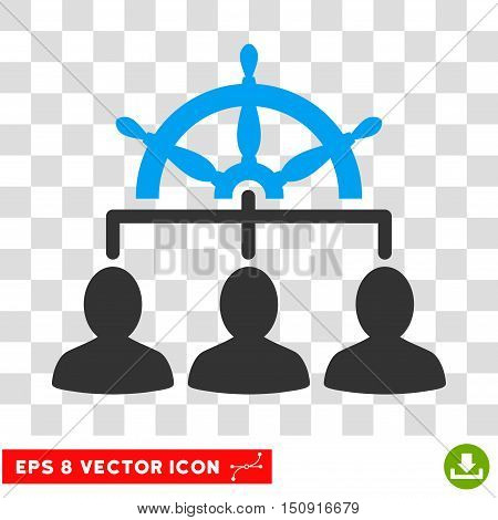 Vector Management EPS vector pictogram. Illustration style is flat iconic bicolor blue and gray symbol on a transparent background.