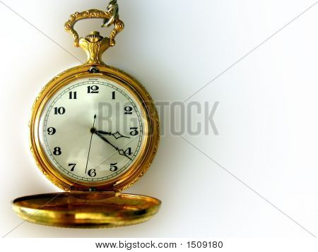Vintage Pocket Watch With Copy Space