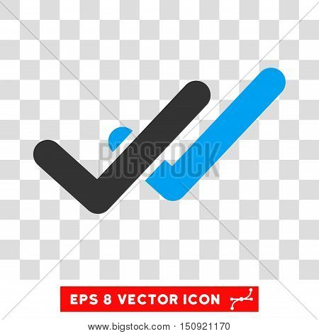 Vector Validation EPS vector pictograph. Illustration style is flat iconic bicolor blue and gray symbol on a transparent background.
