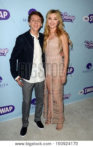 LOS ANGELES - OCT 5:  Jacob Bertrand, Peyton List at the