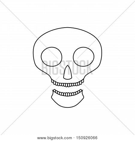 Halloween skull icon. Outline illustration of scull vector icon for web design