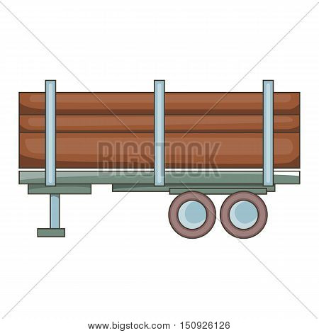 Logging truck icon. Cartoon illustration of truck vector icon for web design