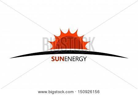 Sun energy logo. Ceology energe design. Sun logo. Creative logo