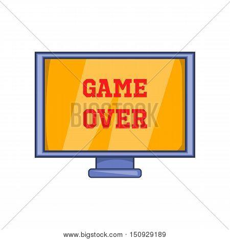 Game over screen icon. Cartoon illustration of screen vector icon for web design
