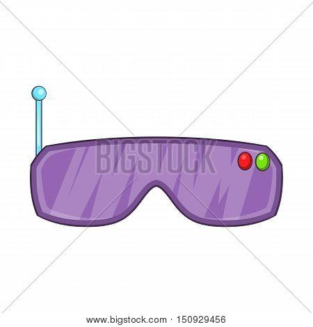 VR goggles icon. Cartoon illustration of goggles vector icon for web design