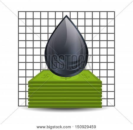 black drop oil and petroleum price design. vector illustration