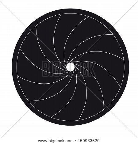 Vector illustration shutter camera black with white edges