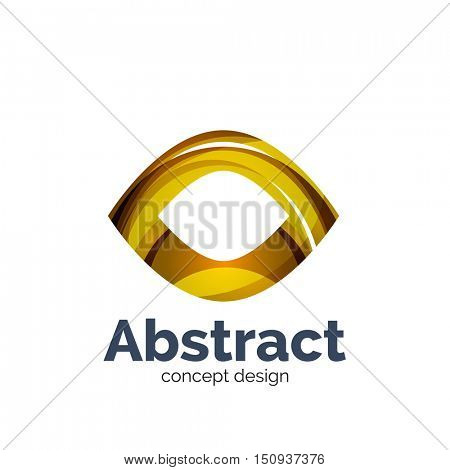 Unusual abstract business vector logo template - abstract eye shape