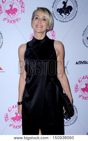 Sharon Stone at the 2016 Carousel Of Hope Ball held at the Beverly Hilton Hotel in Beverly Hills, USA on October 8, 2016.